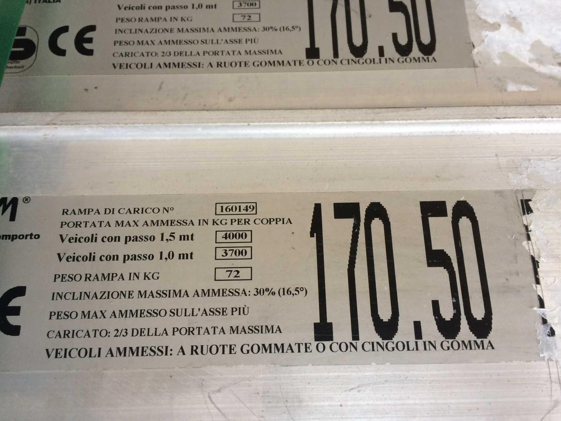 COPPIA DI RAMPE C/B 120 X 4500 X 380 MM